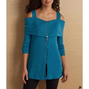 Soft Surroundings | Saxony Blue jersey-knit tunic